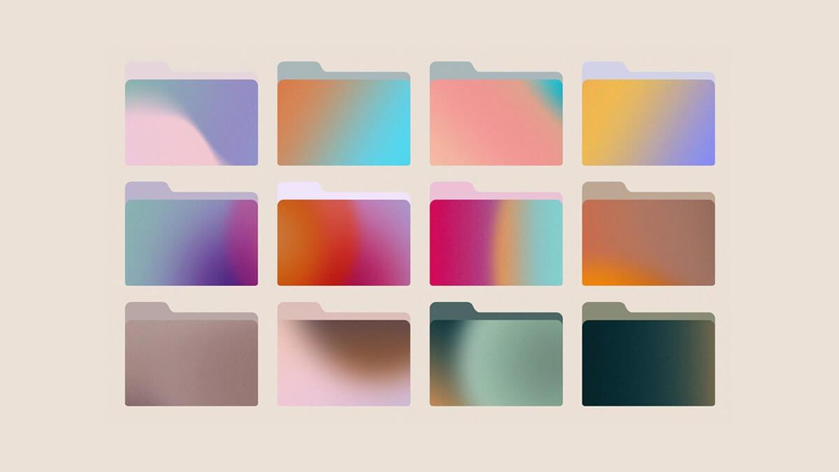 Aesthetic Gradient Folder Icons