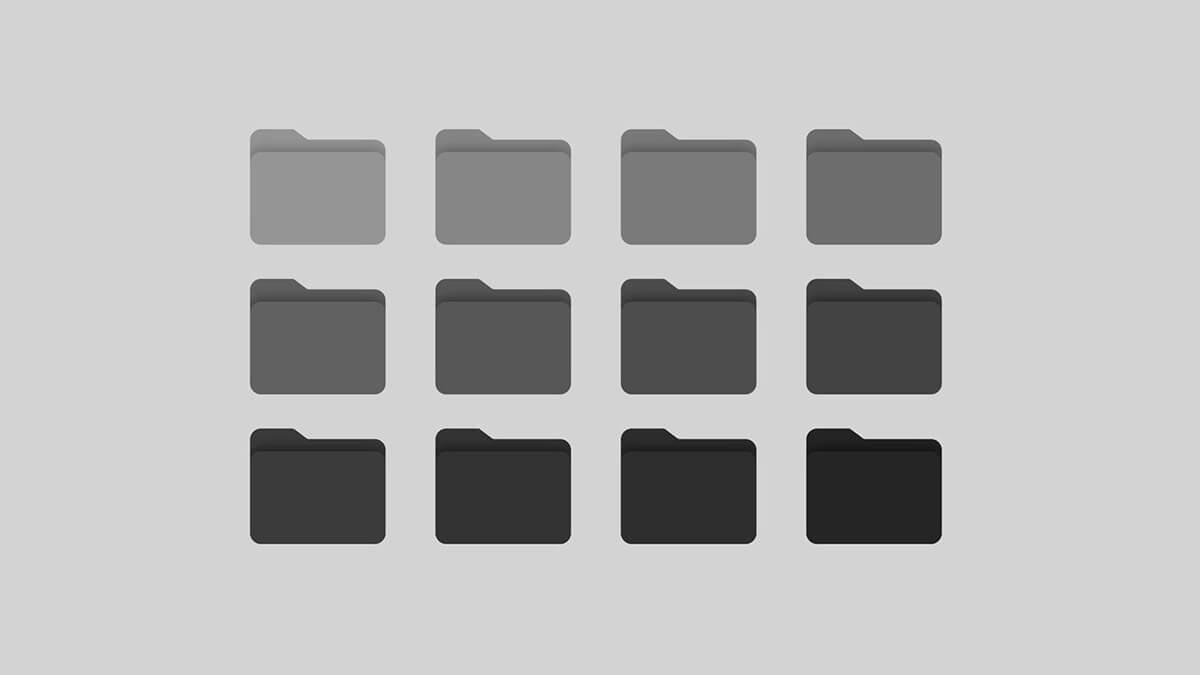 Monochrome & Gray Folder Icons