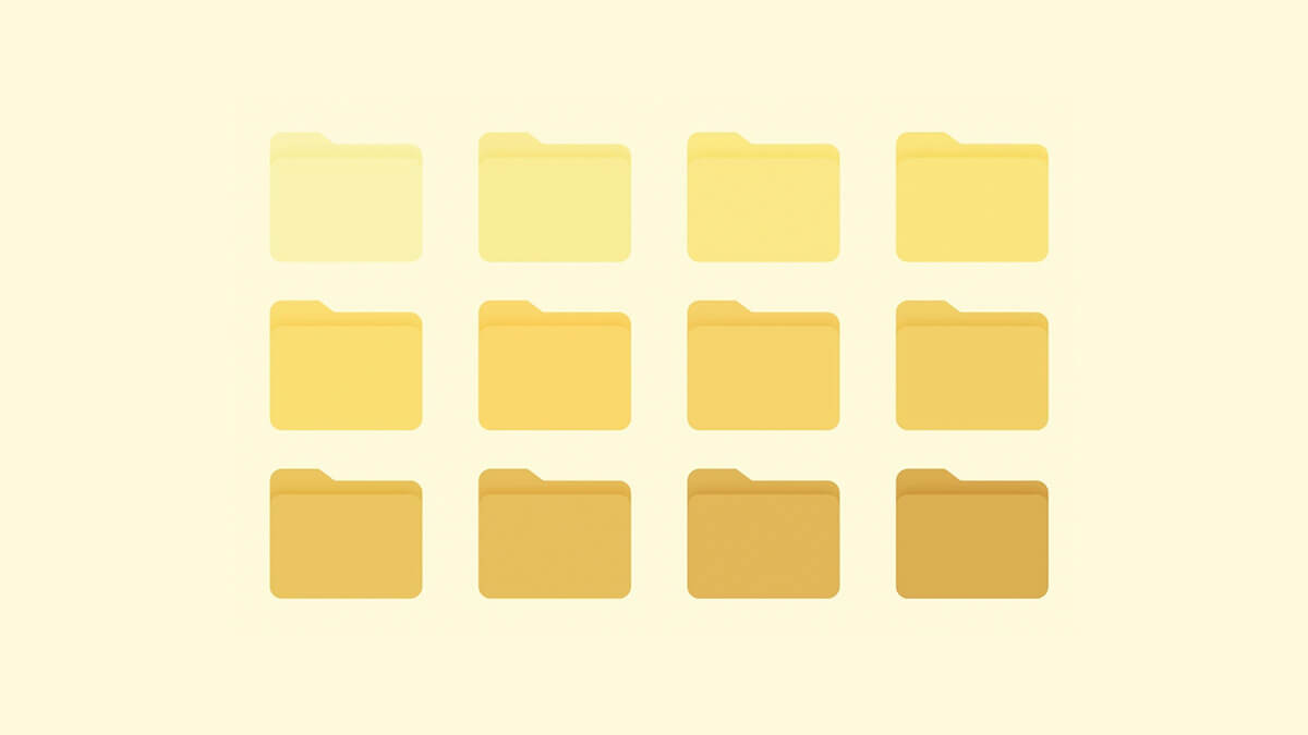 Yellow Aesthetic Folder Icons