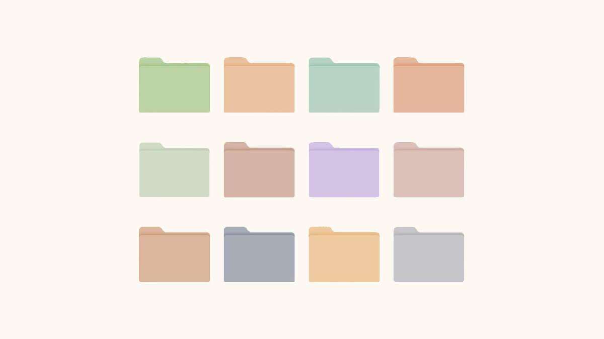Pastel Folder Icons