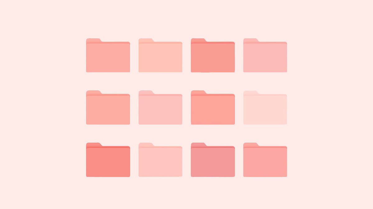 Pink Aesthetic Folder Icons