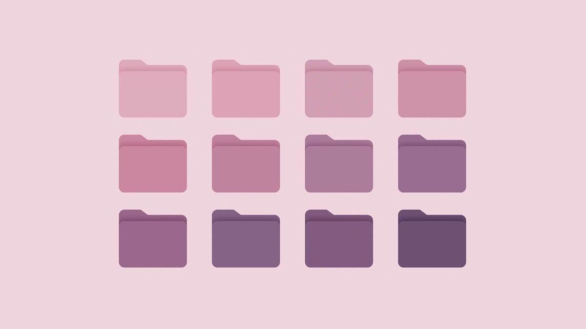 Cute Purple Folder Icons