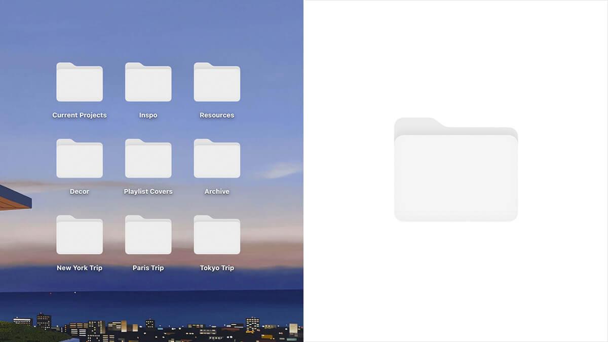 White Aesthetic Folder Icons