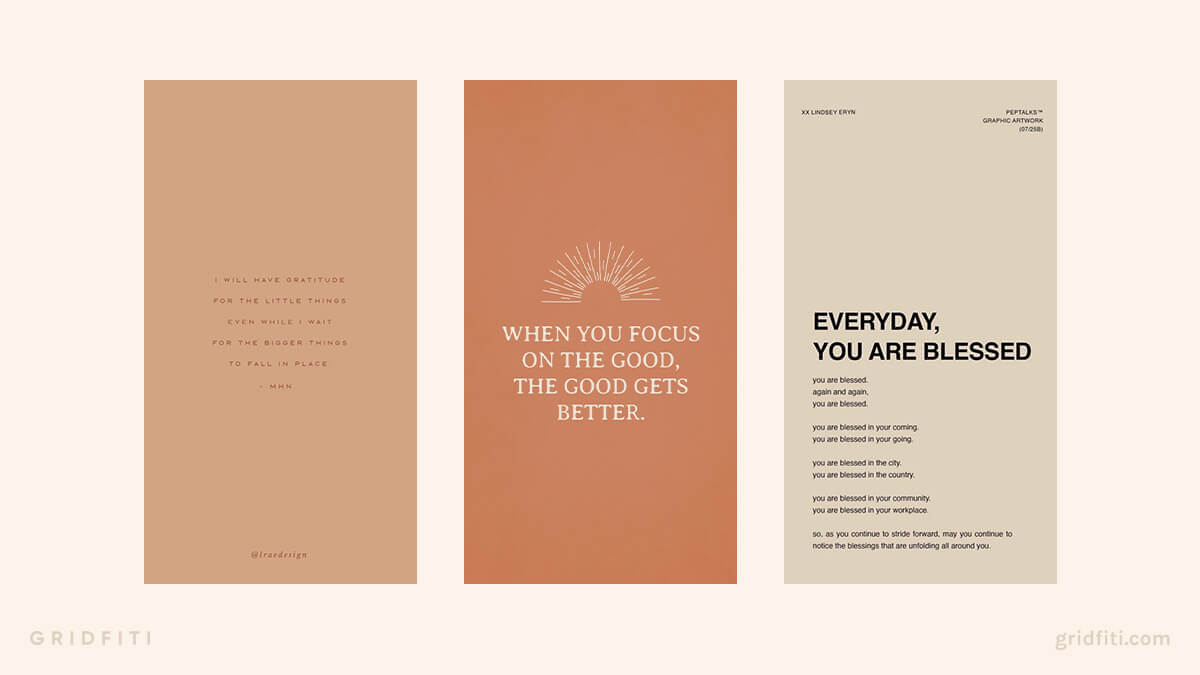 Aesthetic Gratitude Quotes Wallpaper