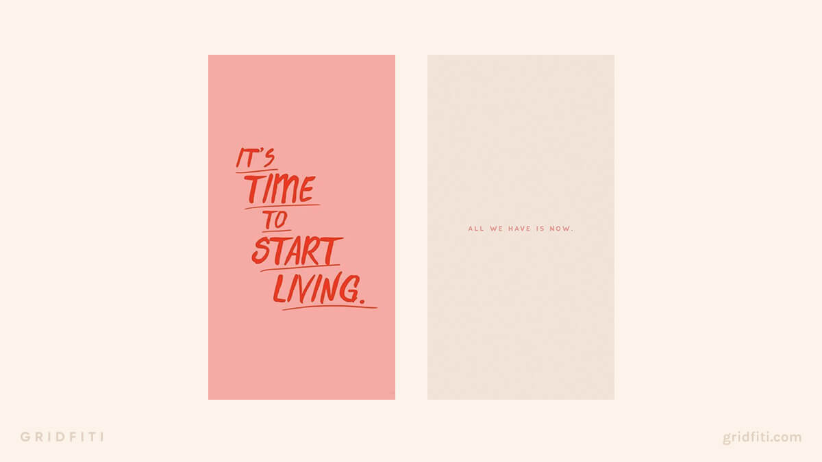 Live in the Moment Quotes Wallpaper