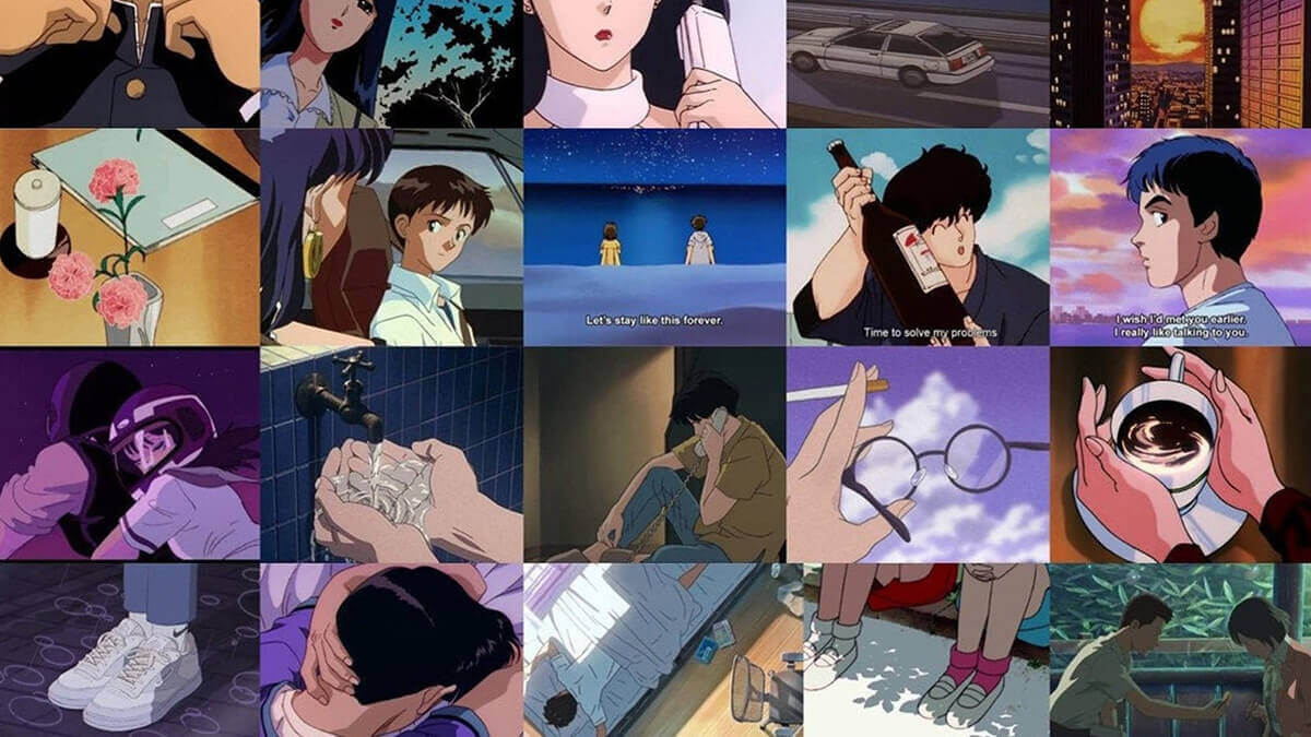 Anime Aesthetic Wall Collage Kit