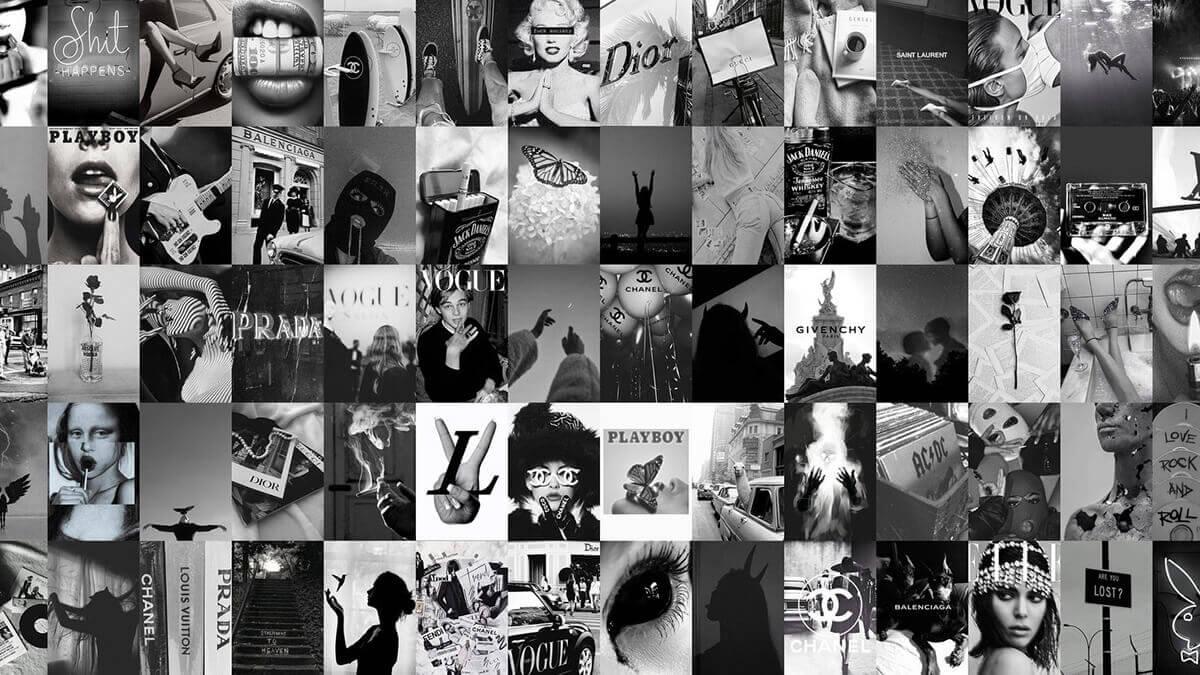Black & White Photo Collage Kit