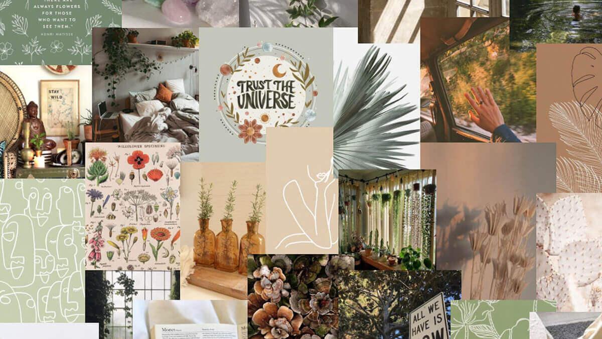 Earthy Boho Aesthetic Collage Kit