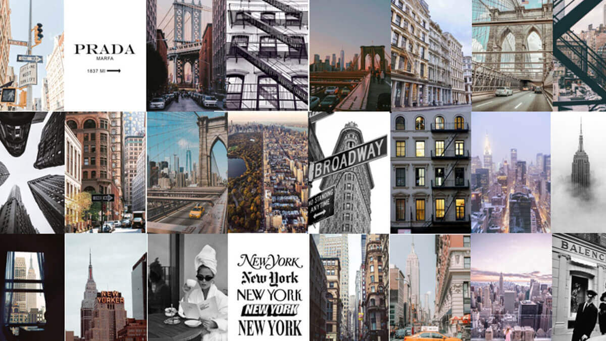 New York Aesthetic Wall Collage Kit