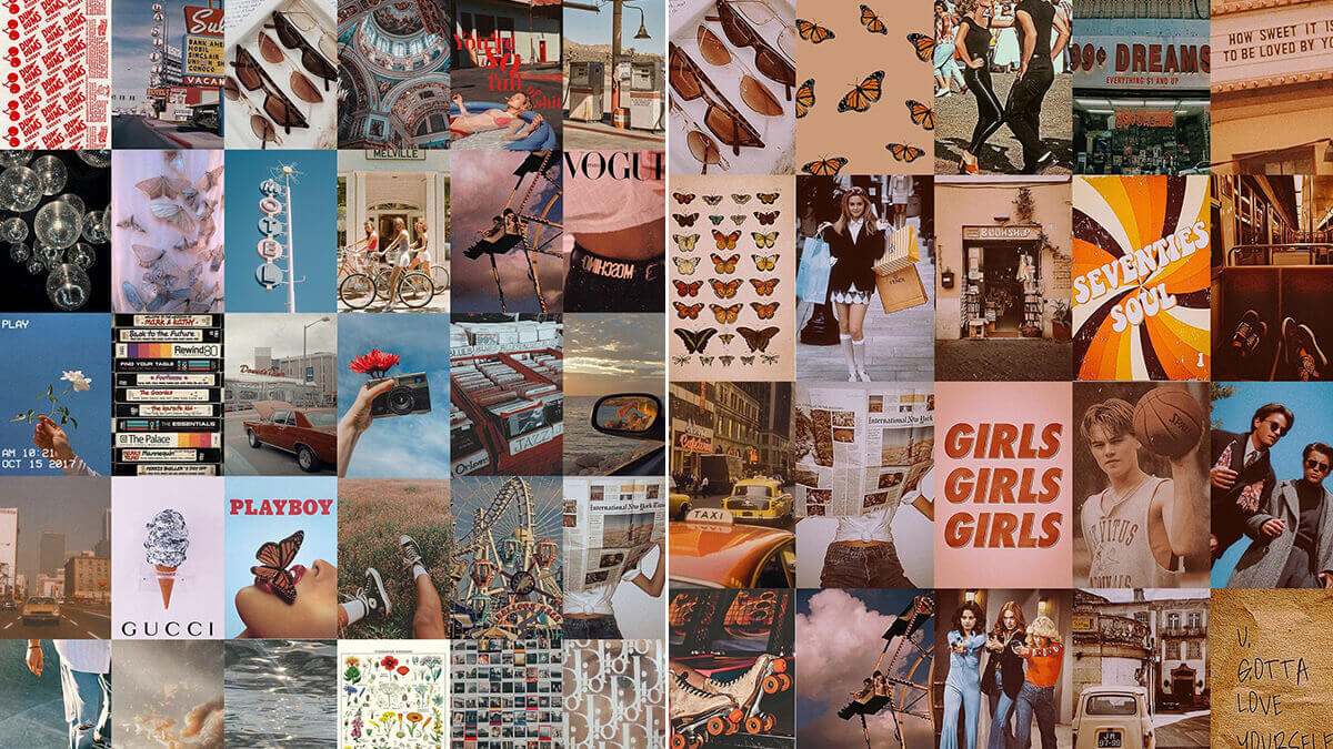 Vintage Aesthetic Wall Collage Kit