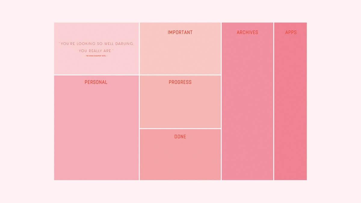 Pink Desktop Organizer Wallpaper