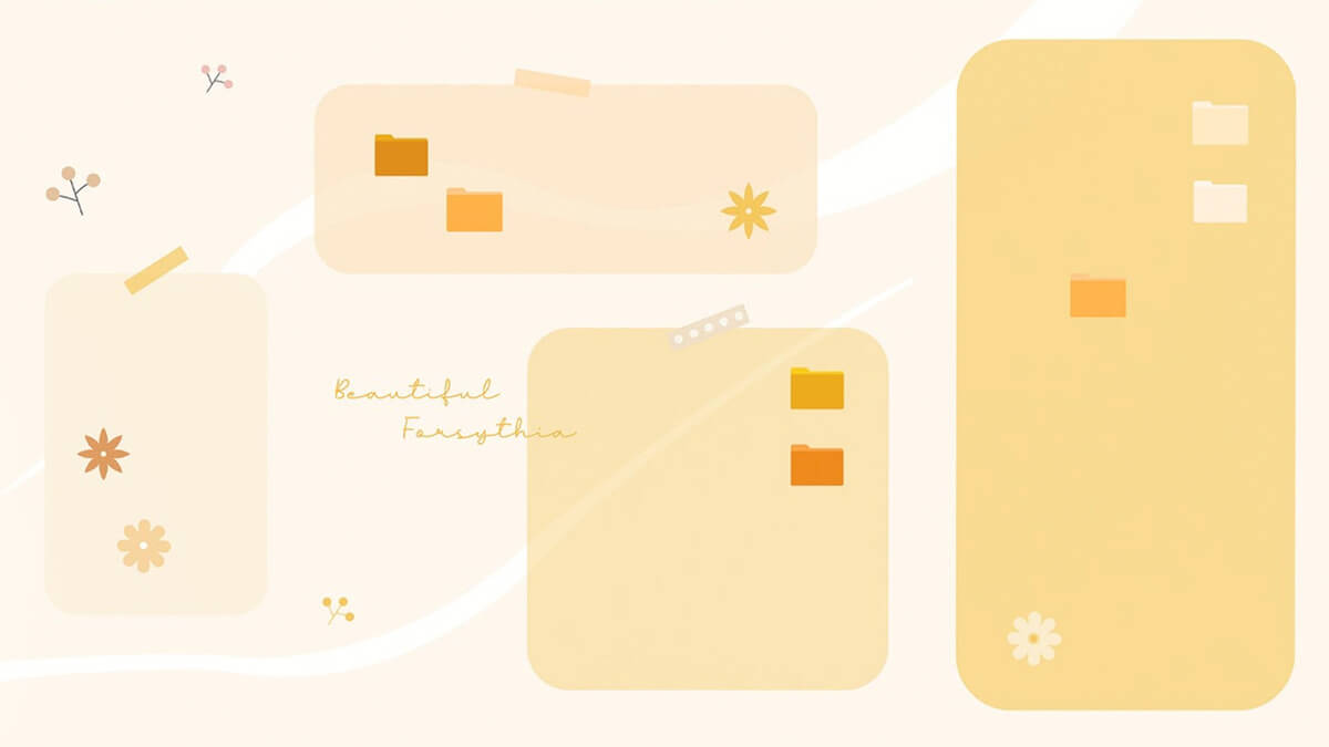 Yellow Desktop Organizer Wallpaper