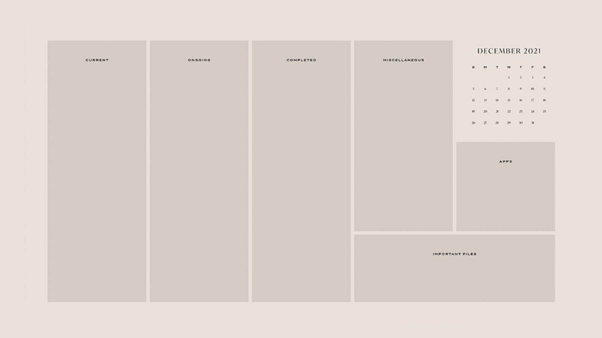 Minimalist Desktop Organizer Wallpaper
