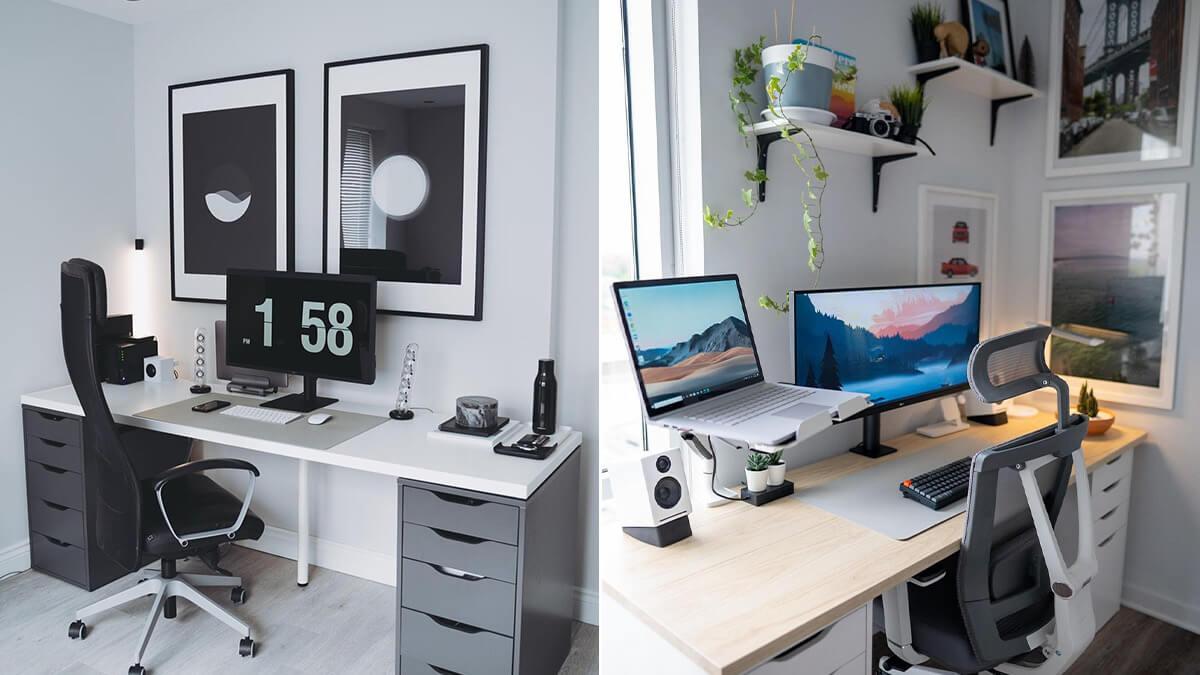 IKEA Minimalist Frames for Desk