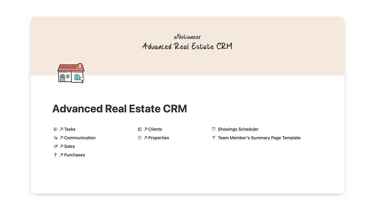 Notion Real Estate CRM Template
