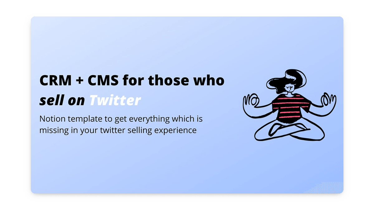 Twitter CRM & CMS Notion Template