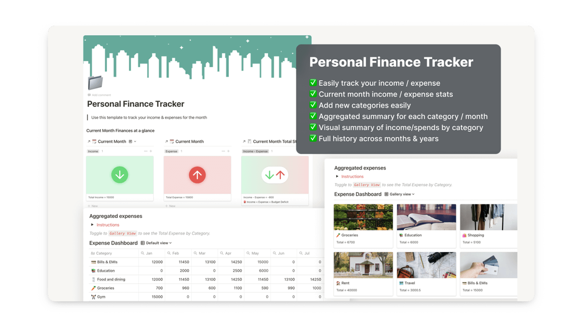 Notion Expense Dashboard Template