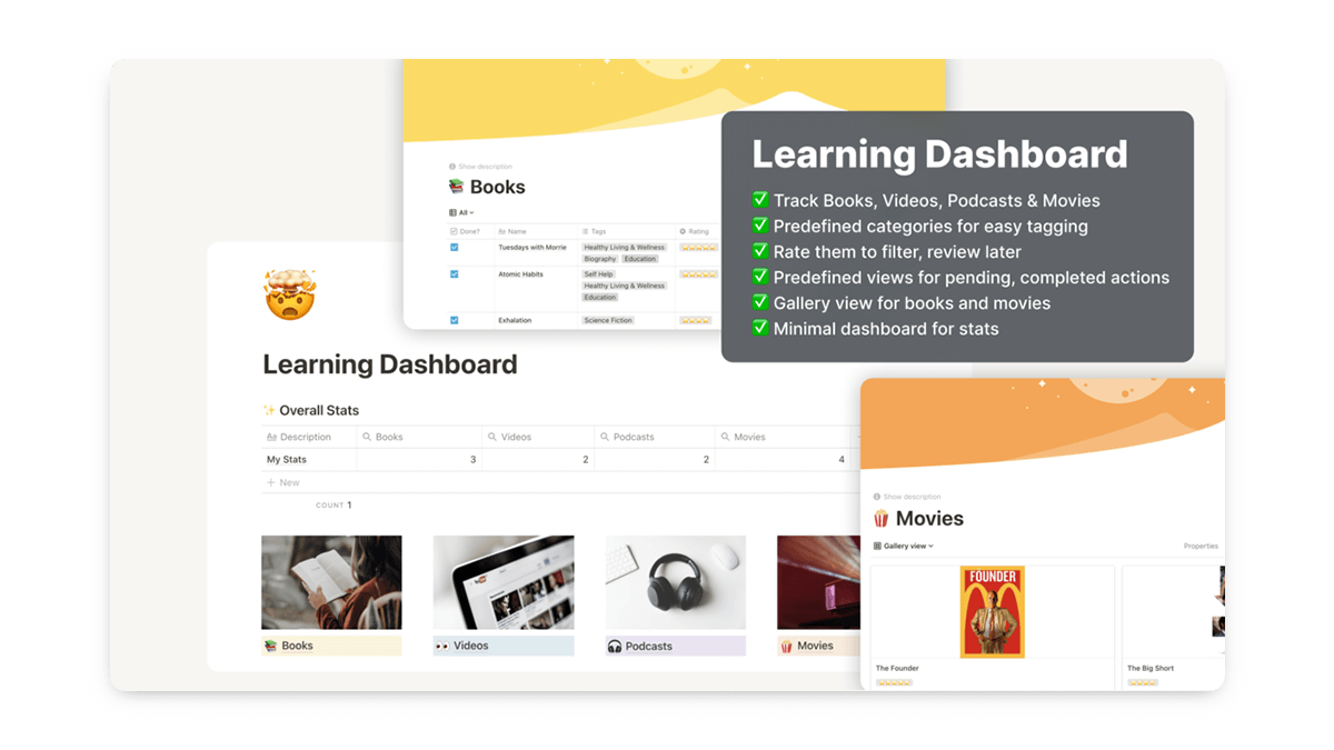 Notion Learning Dashboard Template