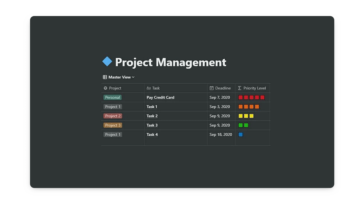 Notion Task Management Template