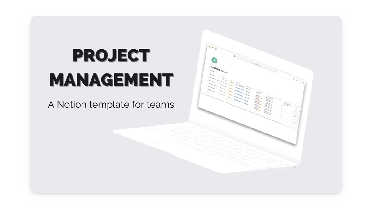 Notion Project Management Template for Teams