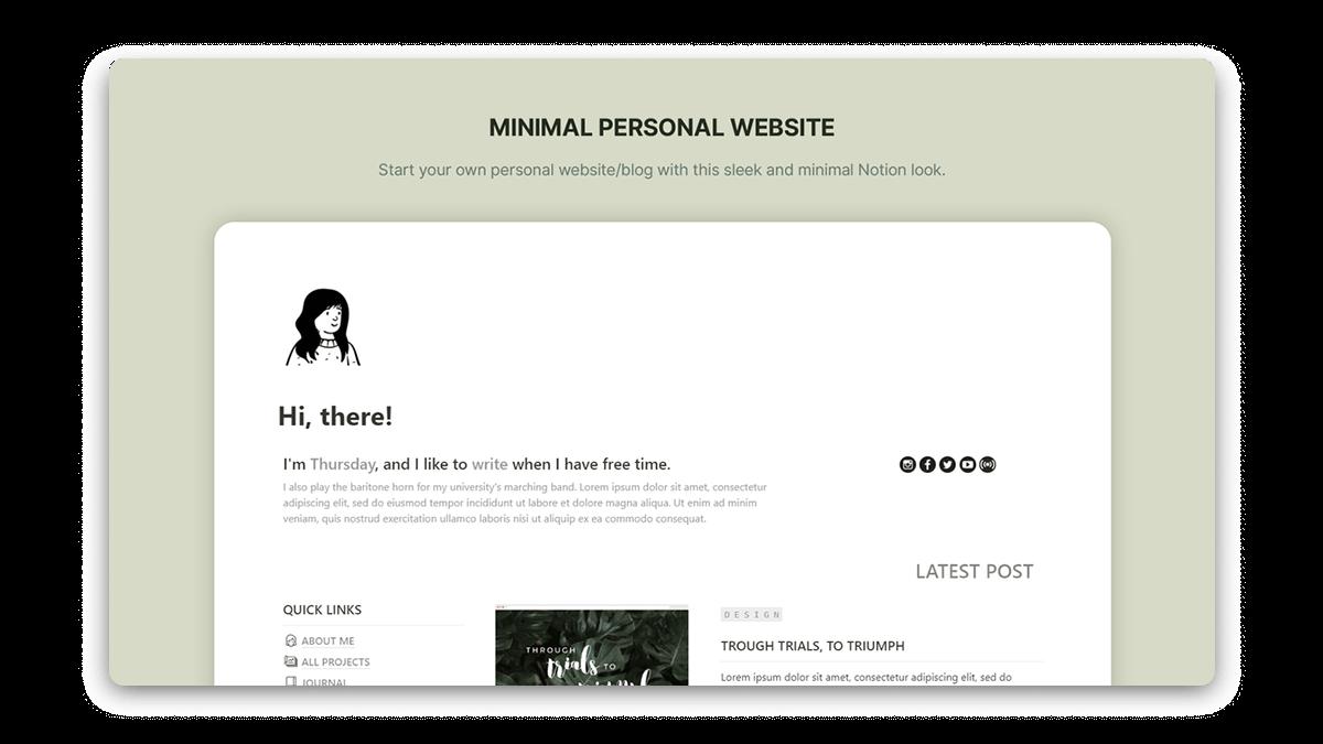 Minimal Notion Website Template