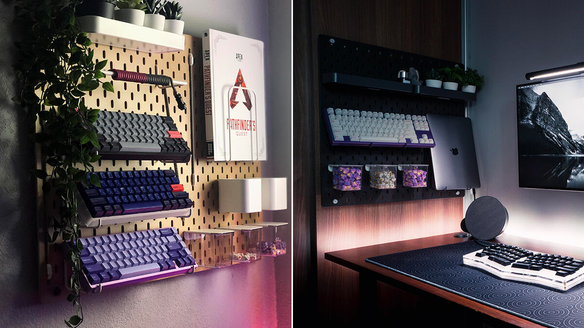 Mechanical Keyboard Pegboard Display