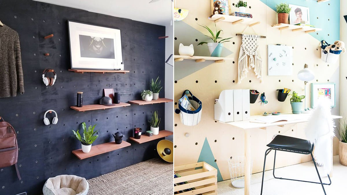 Home Office Pegboard Wall
