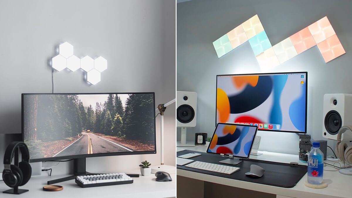 LED Desk Wall Office Ideas