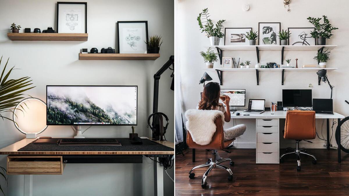 Home office desk shelf ideas