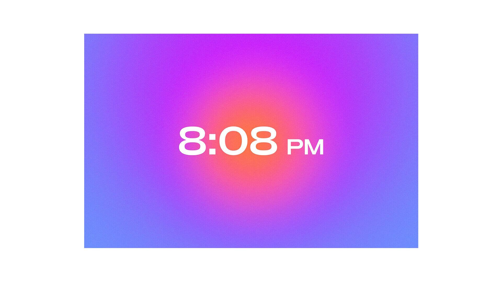 Aesthetic Clock Widget for Notion