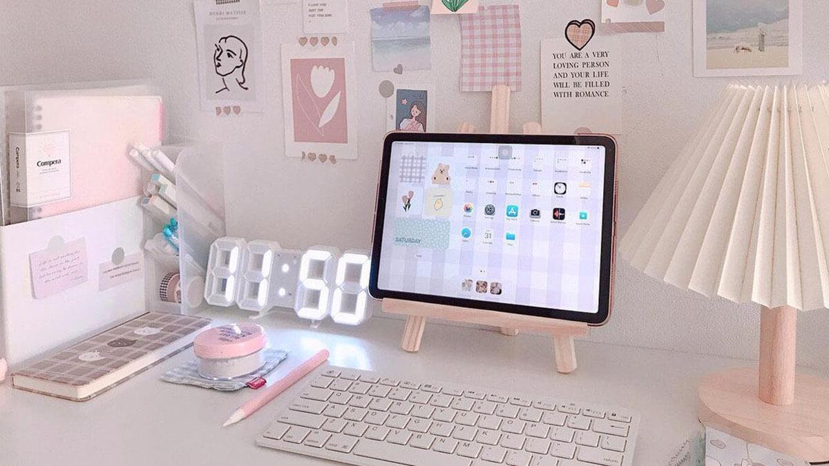 Soft Aesthetic iPad Setup