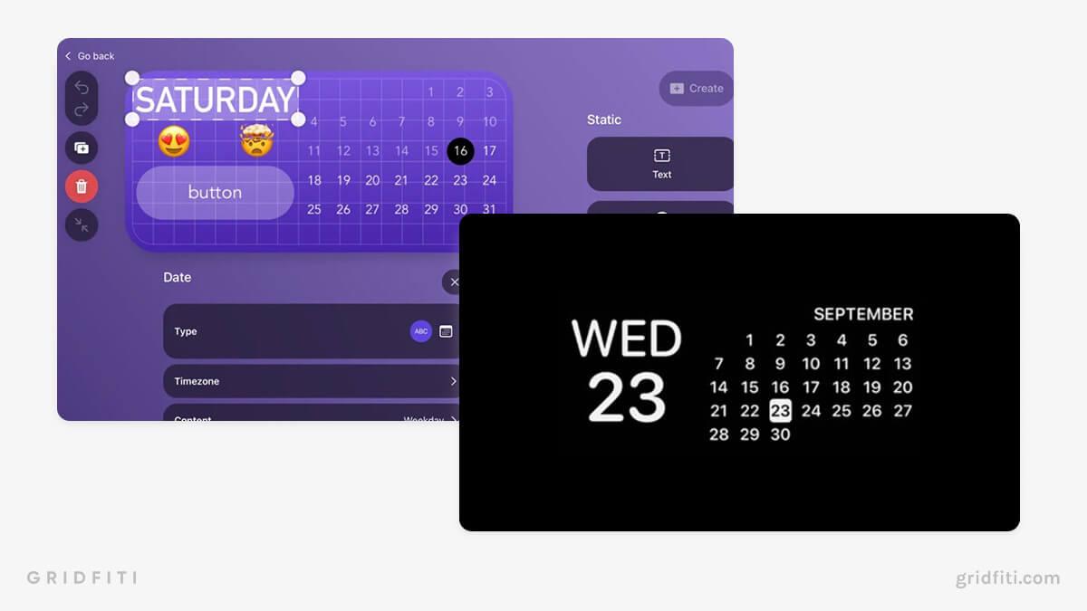 iPad Calendar Widgets