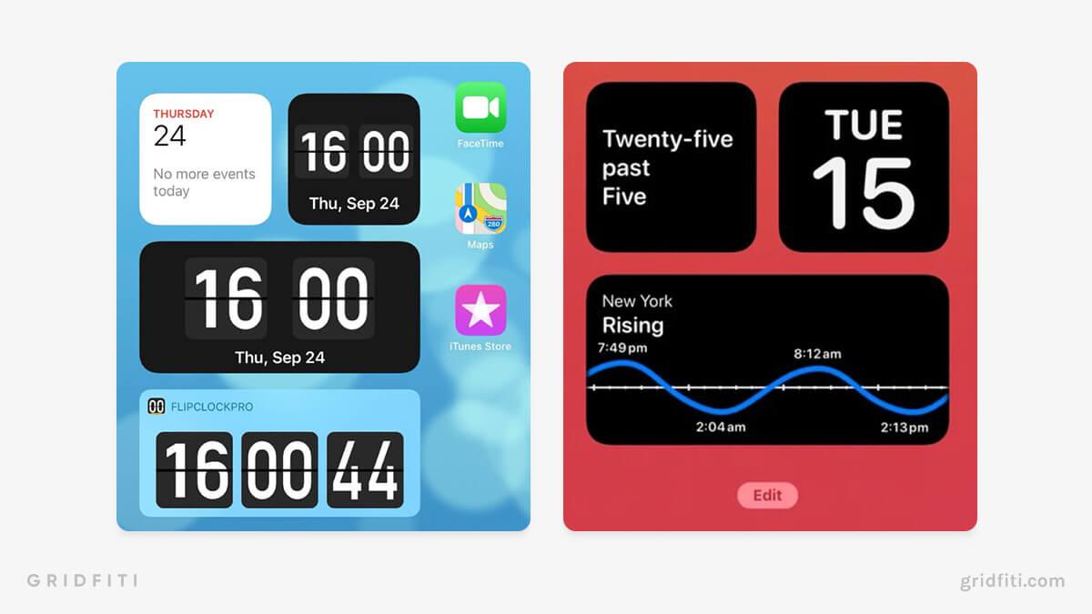 iPad Clock Widgets