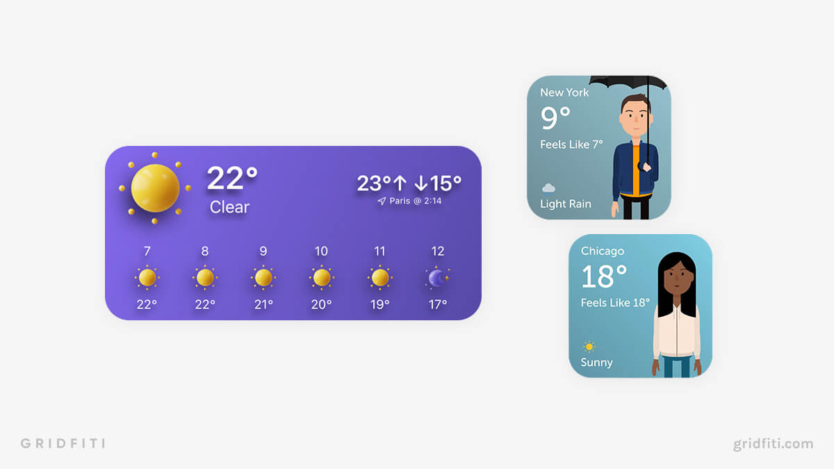 iPad Weather Widgets
