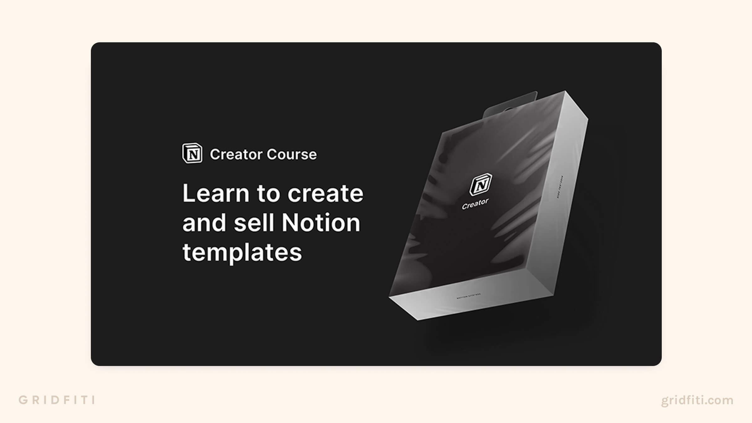 Selling Notion Templates Course