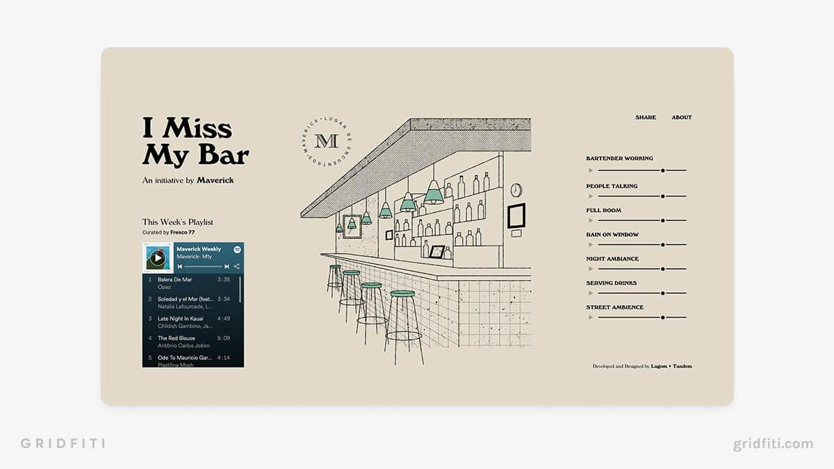 Bar Ambience Website
