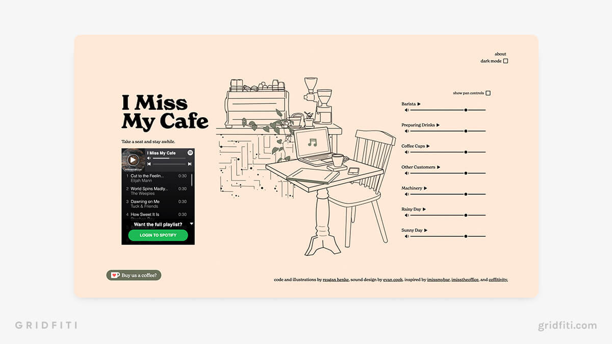 Cafe Ambience Website