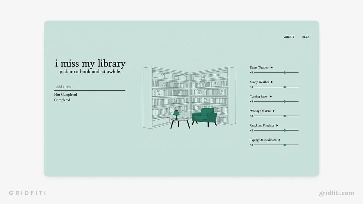 Library Ambience Website