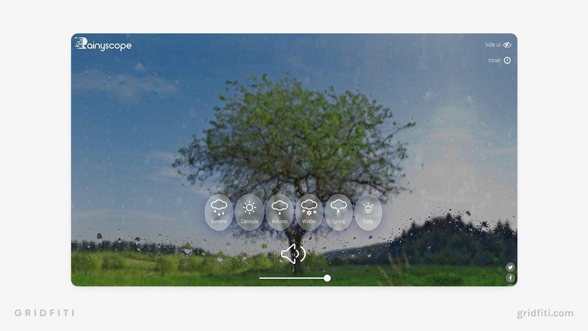 Rainyscope –Seasonal Virtual Space