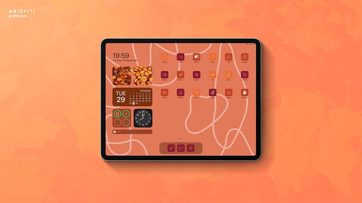Fall-Themed iPad Home Screen