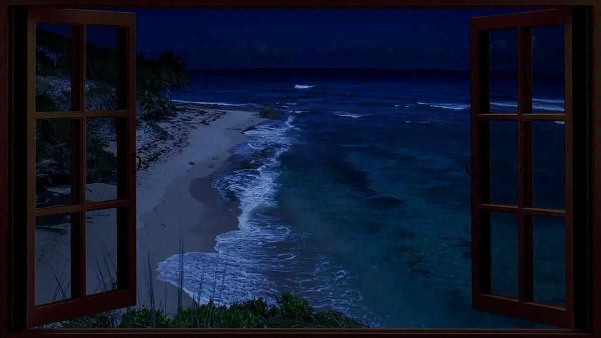 Ocean & Beach Fake Window Videos