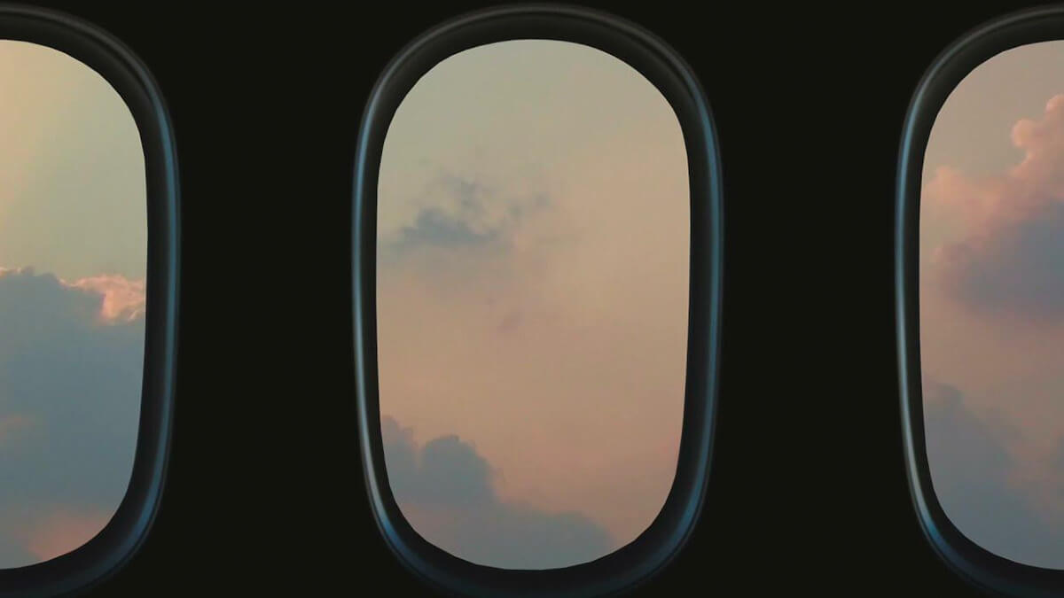 Point of View: Fake Airplane Window