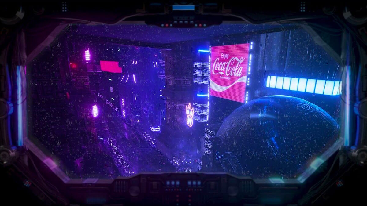 Cyberpunk Fake Window Projector Idea