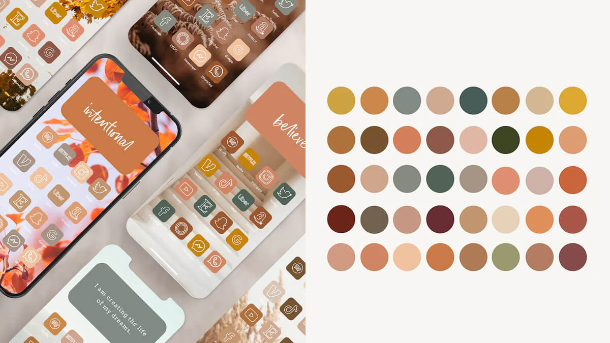 Colorful Fall App Icons