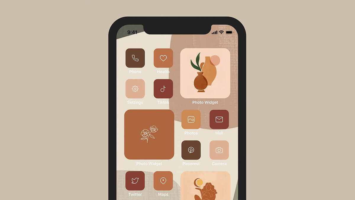 Minimal Fall Color Palette App Icons
