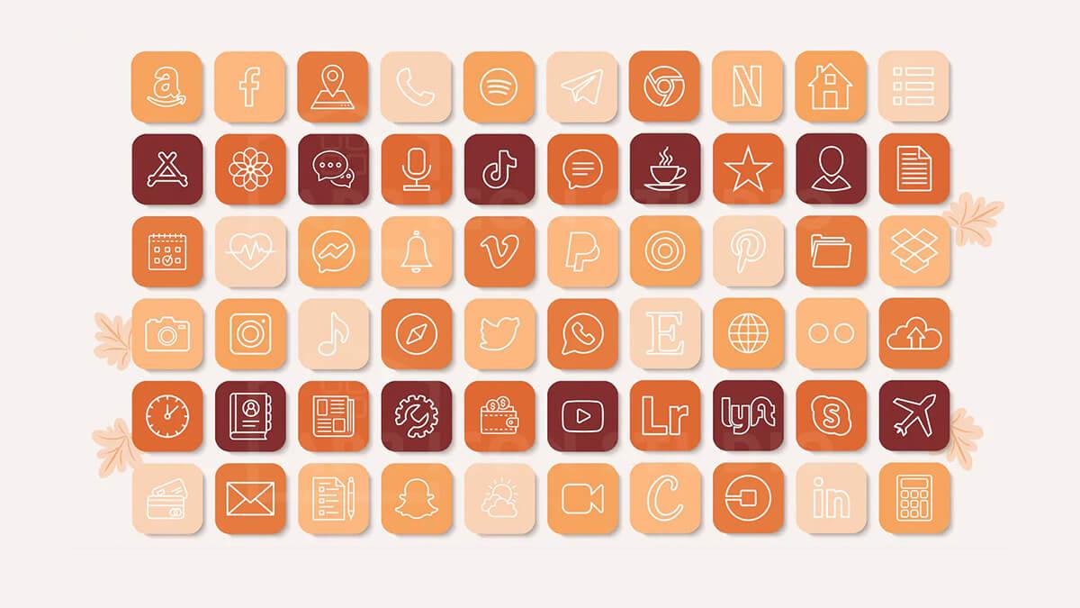 Pumpkin Fall App Icon Packs