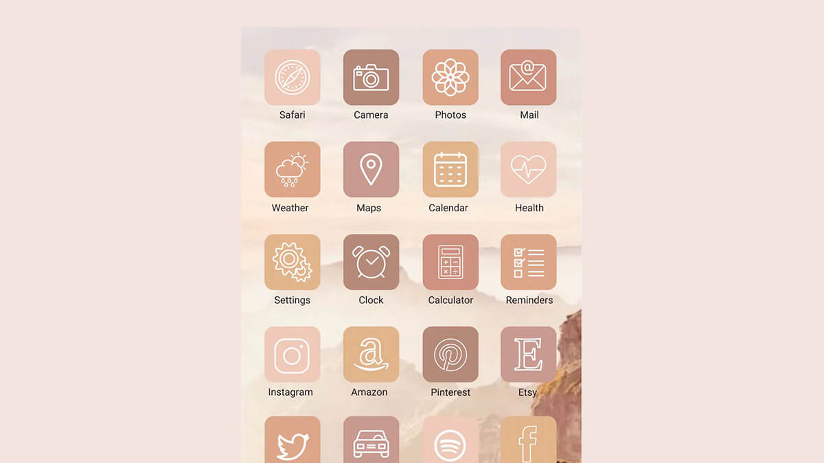Soft Pastel Fall App Icons