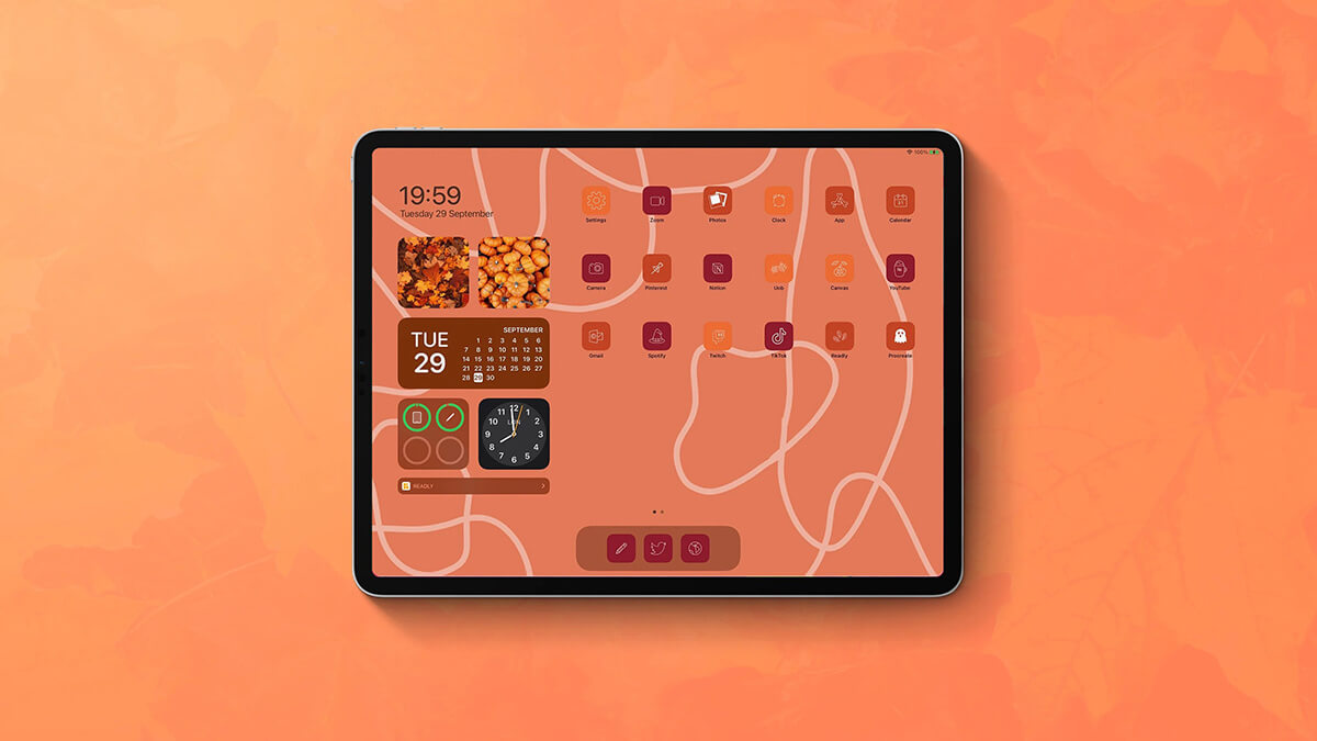 Warm Fall Color App Icons
