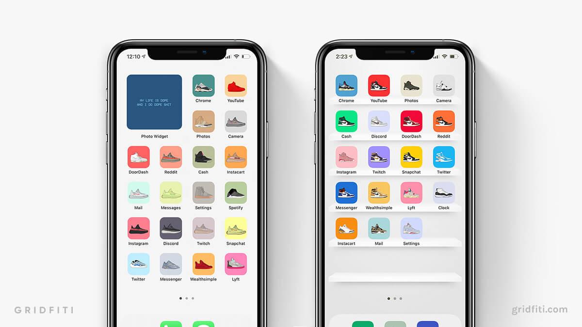 Sneakerhead iPad Home Screen Idea