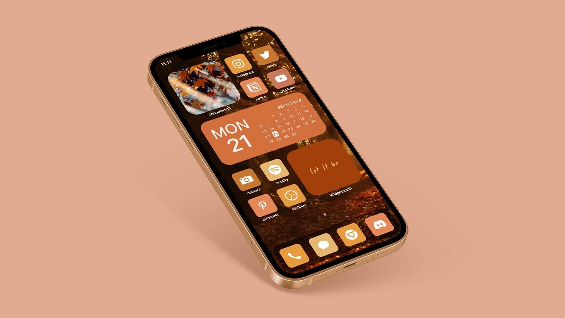 Aesthetic Autumn iOS App Icons